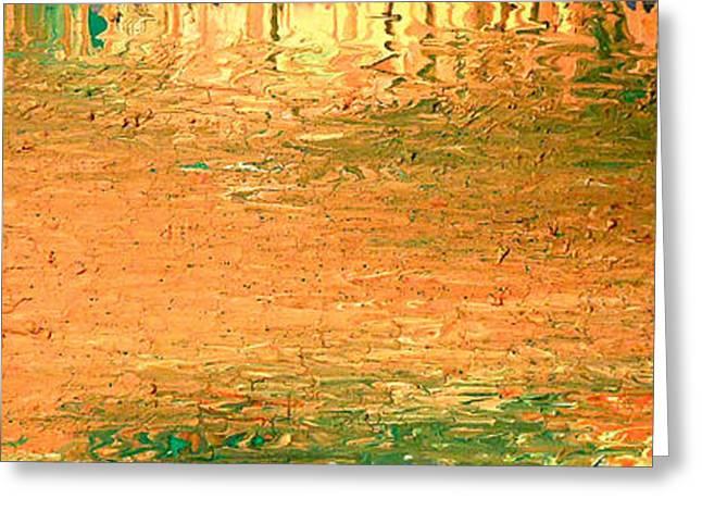Abstract Digital Paintings Greeting Cards - Feel Me Flow Greeting Card by Cyryn Fyrcyd