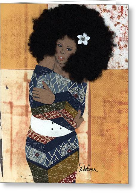 African-american Greeting Cards - Feel My Soul Greeting Card by Delvon