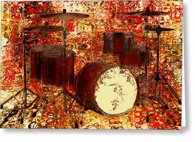 Feel The Drums Greeting Card by Jack Zulli