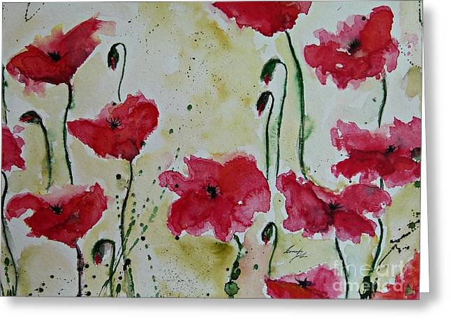 Feel the Summer - Poppies Greeting Card by Ismeta Gruenwald