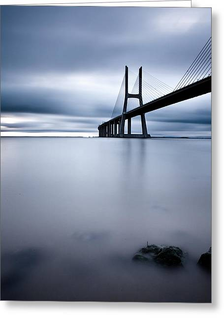 Lisbon Greeting Cards - Feeling blue Greeting Card by Jorge Maia