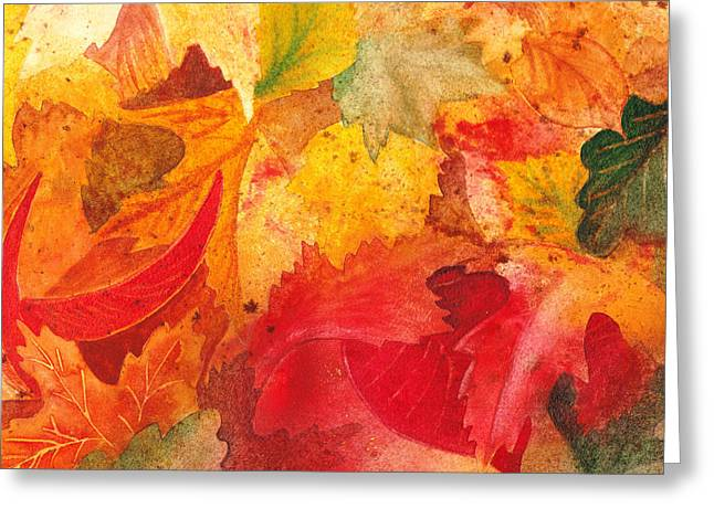 Feeling Fall Greeting Card by Irina Sztukowski