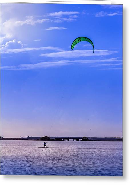 Kite Surfing Greeting Cards - Feeling Free Greeting Card by Marvin Spates