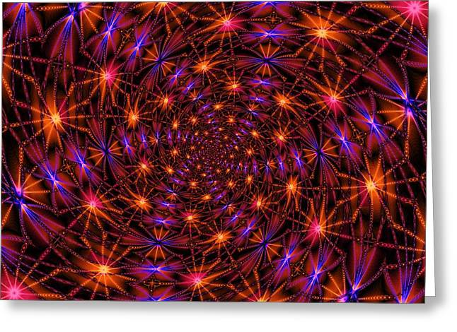 Fractal Orbs Greeting Cards - Feeling Gravitys Pull Greeting Card by Elizabeth McTaggart