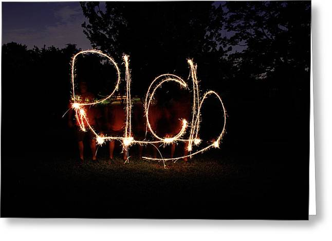 Sparklers Greeting Cards - Feeling Rich Greeting Card by Rich Franco