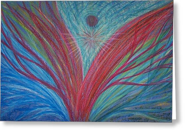 Transformations Pastels Greeting Cards - Feeling Surrounded by Love #2 Greeting Card by Jamie Rogers