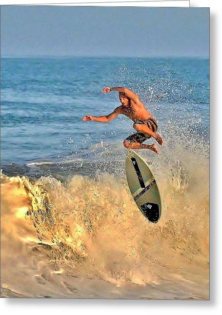 Surf City Greeting Cards - Feeling the Air Greeting Card by Kim Bemis
