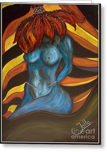 Feeling The Blues... Greeting Card by Jolanta Anna Karolska