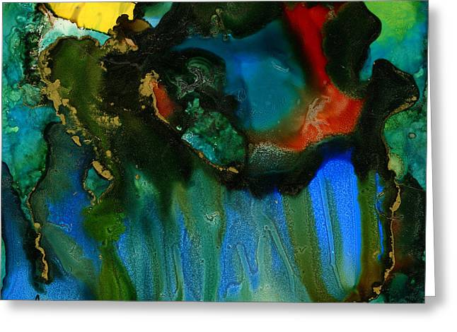 Survivor Art Greeting Cards - Feeling Violated and BLUE Greeting Card by Angela L Walker