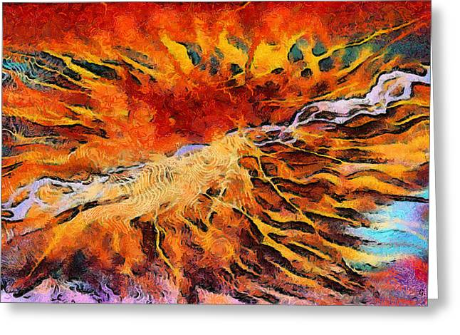 G.rossidis Greeting Cards - Feelings eruption Greeting Card by George Rossidis
