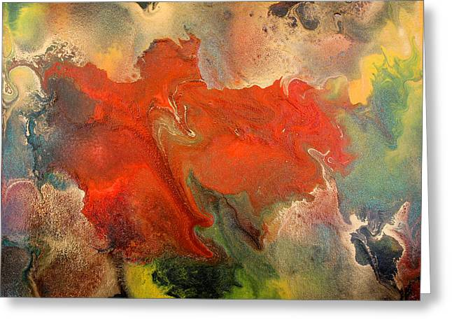Feelings Eruption Greeting Card by Julia Fine Art And Photography