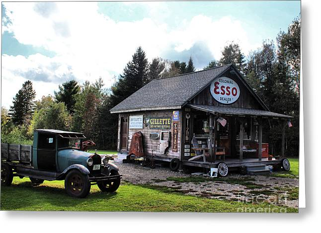 Best Sellers -  - Historic Country Store Greeting Cards - Felands Service Station Greeting Card by Joseph Marquis