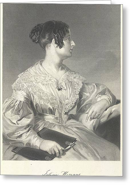 Felicia Dorothea Hemans Greeting Card by British Library