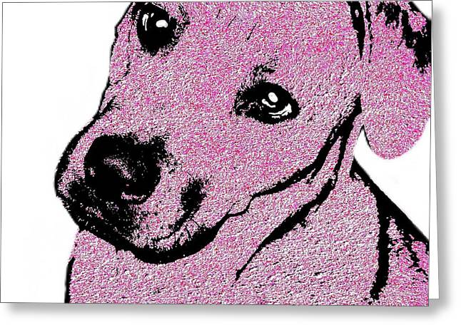 Framed Pit Bull Print Greeting Cards - Felicias Love 2 Greeting Card by Cindy Edwards