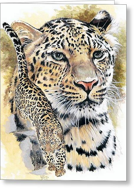 Wildcats Mixed Media Greeting Cards - Felicitious Greeting Card by Barbara Keith