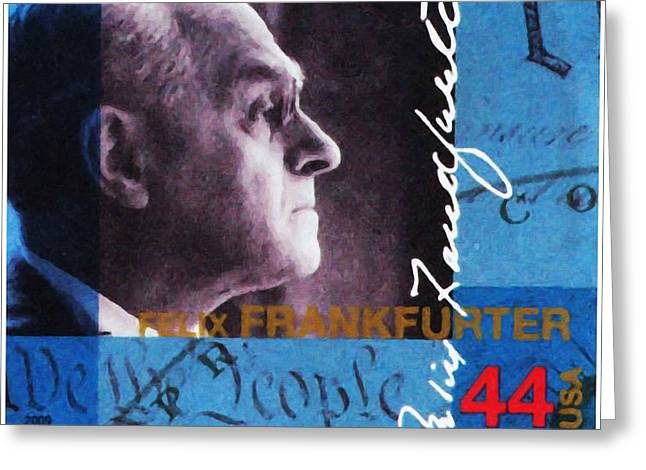Abolition Paintings Greeting Cards - Felix Frankfurter Greeting Card by Lanjee Chee