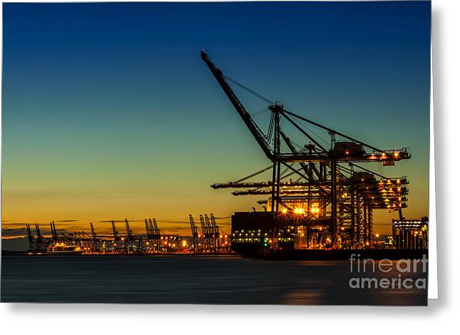Felixstowe Docks Greeting Card by Svetlana Sewell