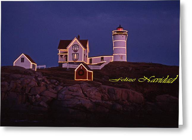 FELIZE NAVIDAD NUBBLE Greeting Card by Skip Willits