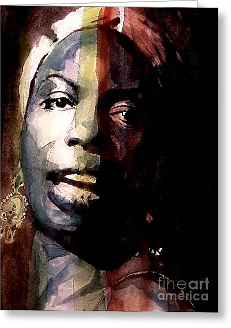 Nina Simone Greeting Cards - Felling Good  Greeting Card by Paul Lovering