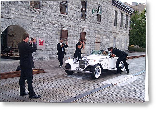 1936 Movies Greeting Cards - Fellow Paparazzi Greeting Card by Gary at TopPhotosI