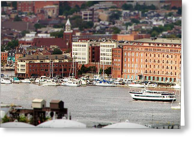 Boats On Water Greeting Cards - Fells Point Baltimore Md Greeting Card by LuckArt