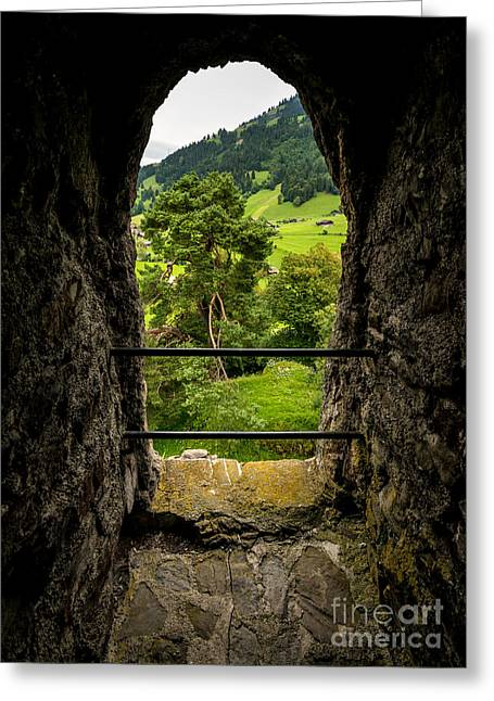 Swiss Photographs Greeting Cards - Tellenburg Castle Ruin - Kander Valley Greeting Card by Gary Whitton