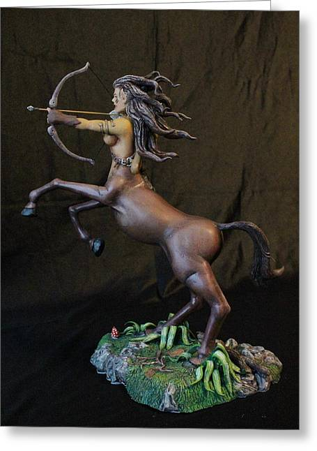 Female Sculptures Greeting Cards - Female Centaur Greeting Card by Mark Harris