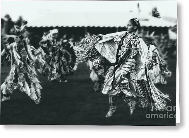 Fancy-dancer Greeting Cards - Female Fancy Dancer Greeting Card by Scarlett Images Photography