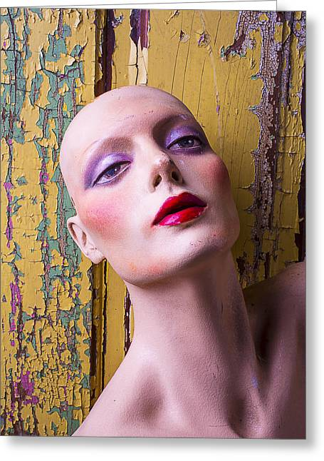 Display Dummy Greeting Cards - Female Mannequin Greeting Card by Garry Gay