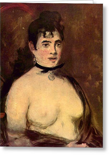 Old Masters Greeting Cards - Female Nude Greeting Card by Edouard Manet