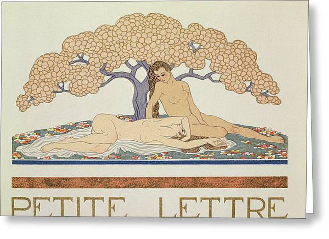 Les Greeting Cards - Female nudes Greeting Card by Georges Barbier