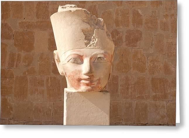 Hathor Greeting Cards - Female Pharoah Hatshepsut Greeting Card by Brenda Kean