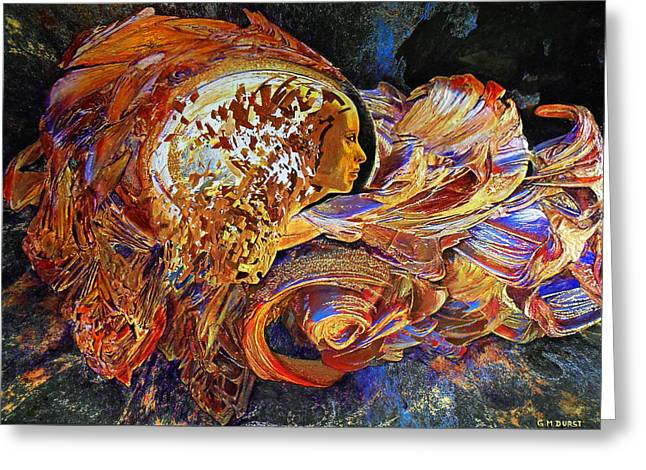 Abstract Movement Greeting Cards - Female Seer Greeting Card by Michael Durst