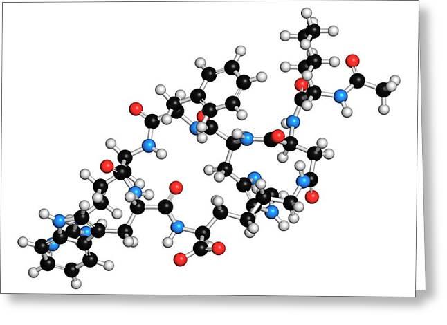 Female Sexual Dysfunction Drug Molecule Greeting Card by Molekuul