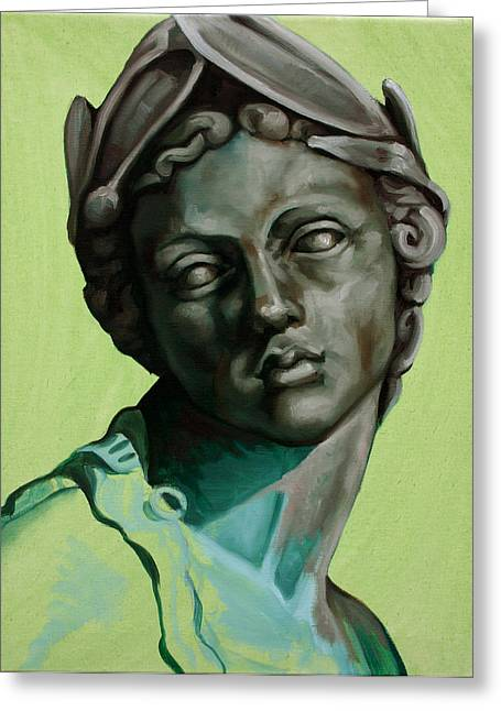Classical Sculptures Greeting Cards - Female Study of Rossio Fountain Greeting Card by Kathleen English-Barrett