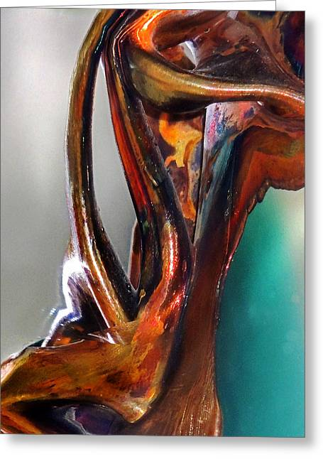 Nude Woman Torso Sculpture Greeting Cards - Female Torso 1 Greeting Card by Judy Paleologos