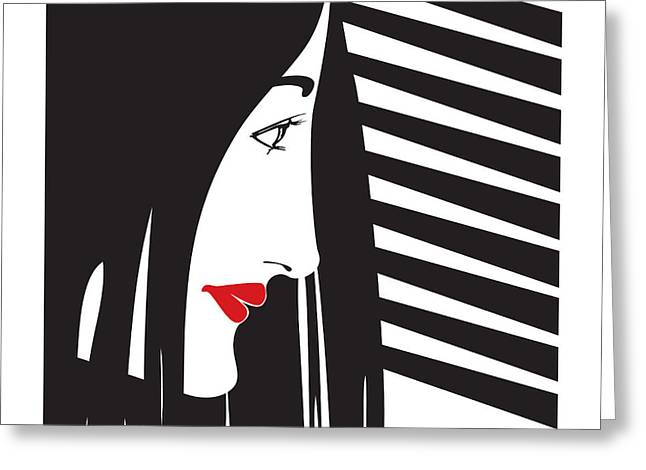 Female Spy Greeting Cards - Female voyeur  Greeting Card by Igor Kislev