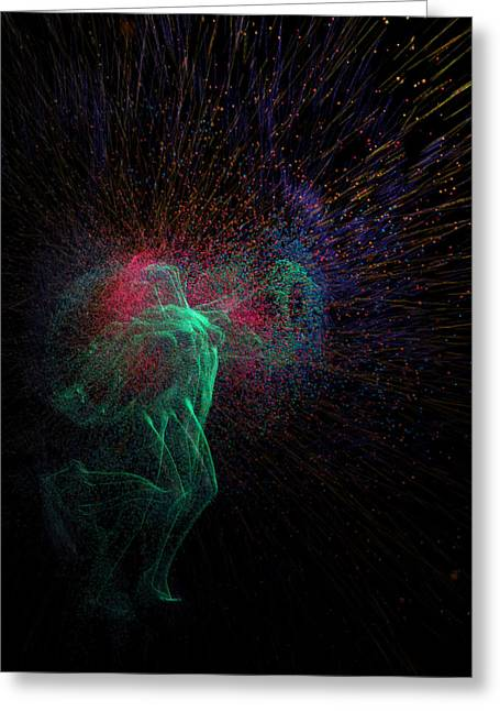 Life-cosmic Dance Greeting Cards - Femina Ludens - Playing Woman Greeting Card by Sora Neva
