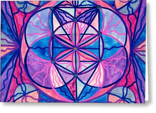 The Sacred Feminine Greeting Cards - Feminine Interconnectedness Greeting Card by Teal Eye  Print Store