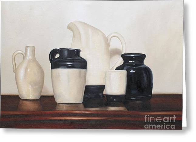 Pottery Pitcher Greeting Cards - Femininity Greeting Card by Alea Hurst