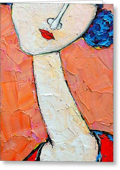 Abstract Expression Greeting Cards - Femininity Greeting Card by Ana Maria Edulescu