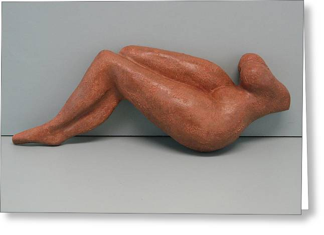Person Sculptures Greeting Cards - Femininity Greeting Card by Nili Tochner