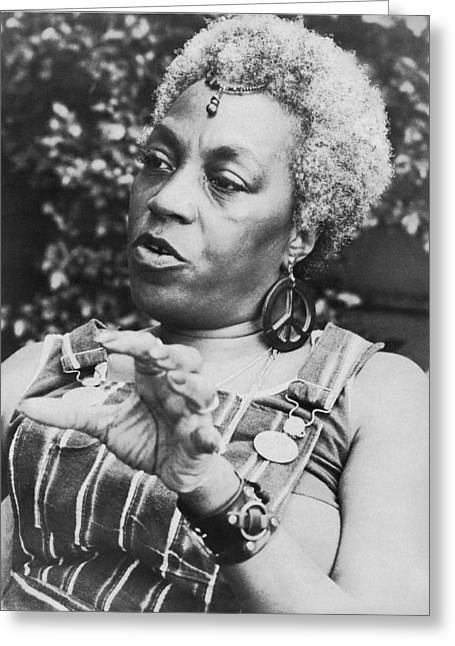 Feminist Florynce Kennedy Greeting Card by Underwood Archives