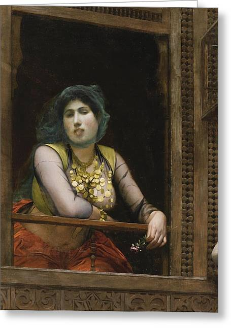 Gerome Greeting Cards - Femme Au Balcon Greeting Card by Jean-leon Gerome