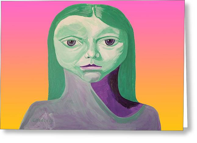 Femme Fatale Greeting Card by Roger Medcalf