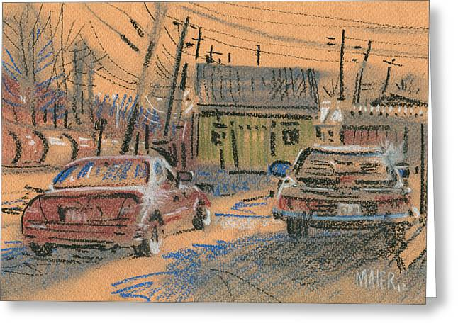 Air Pastels Greeting Cards - Fence Company Greeting Card by Donald Maier