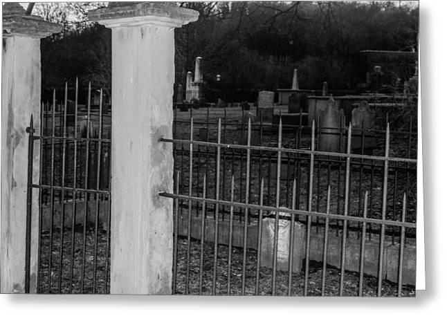Final Resting Place Greeting Cards - Fenced In Greeting Card by Robert Hebert