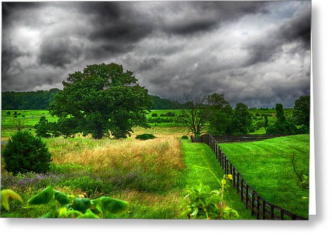 Fenced out Greeting Card by Ryan Crane