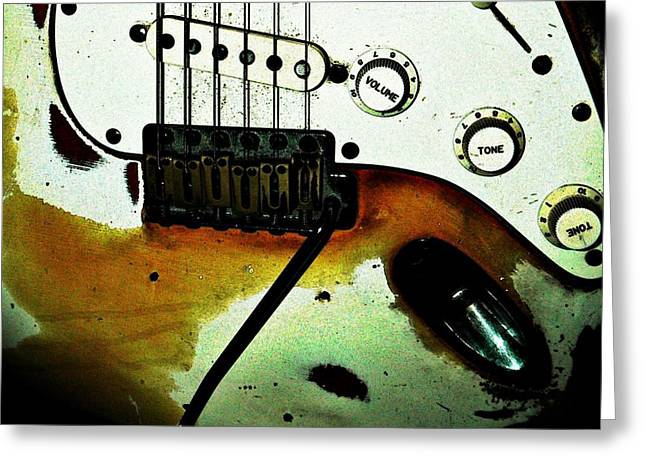 Hardware Greeting Cards - Fender Detail  Greeting Card by Chris Berry
