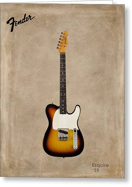 Fender Esquire Greeting Cards - Fender Esquire 59 Greeting Card by Mark Rogan